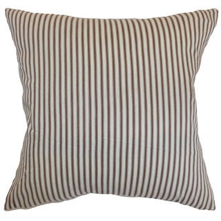 Daxiam Stripes Euro Sham Brown White