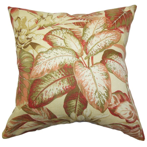 Adlai Floral Euro Sham Red Green