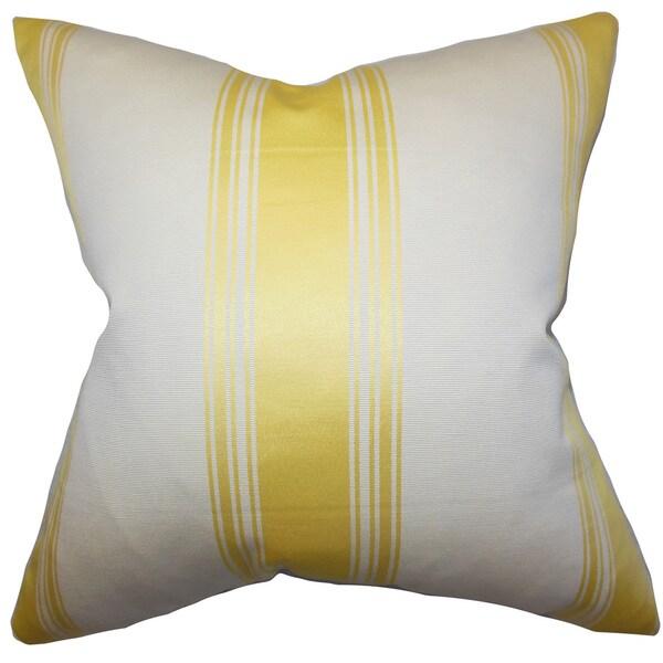 Jaleesa Stripes Euro Sham Yellow White