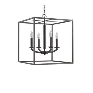 Woodbridge Lighting 14424 Lola Finished Steel 4-light Cube Pendant Chandelier