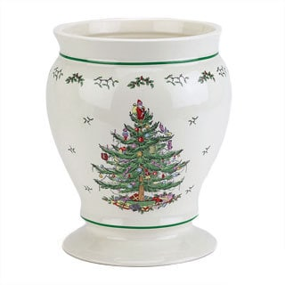 Spode Christmas Tree Holiday Themed Wastebasket