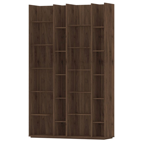 Shop Capri Grey/Brown Wood/Melamine 20-shelf Bookcase - Free