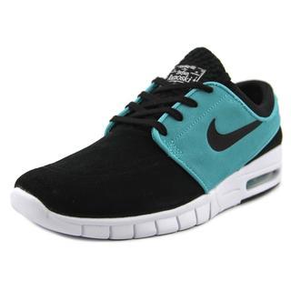 Nike Men's 'Stefan Janoski Max L' Black Faux Suede Athletic Shoes