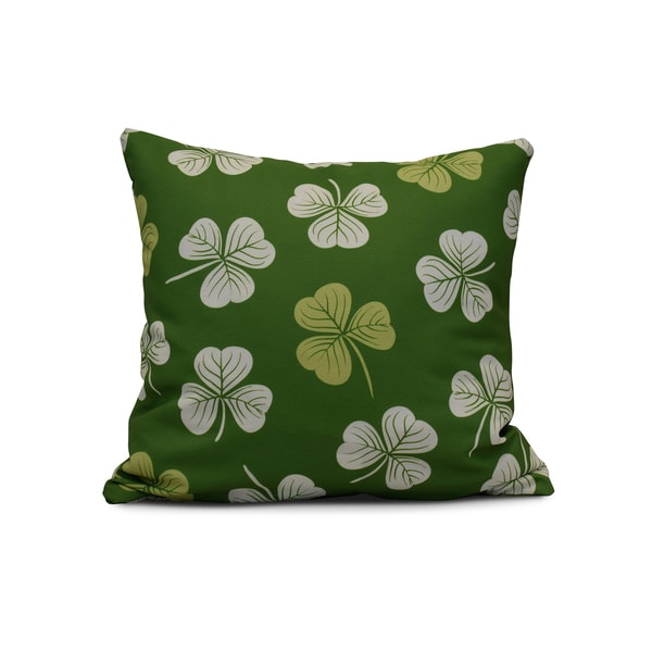 E by Design 26-inch Lucky Holiday Floral Print Pillow