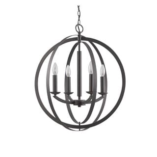 Woodbridge Lighting 14420 Lola Steel 4-light Sphere Pendant Chandelier