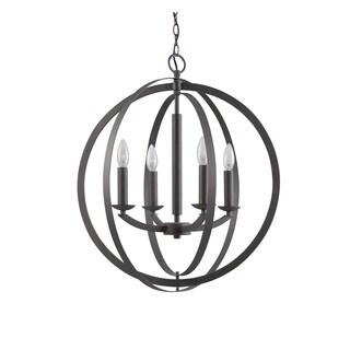 Woodbridge Lighting 14420 Lola Steel 4-light Sphere Pendant Chandelier