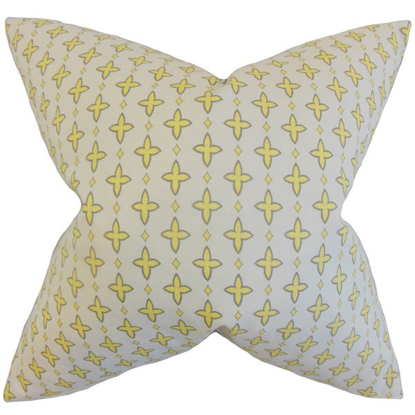 Auden Geometric Euro Sham Lemon Gray