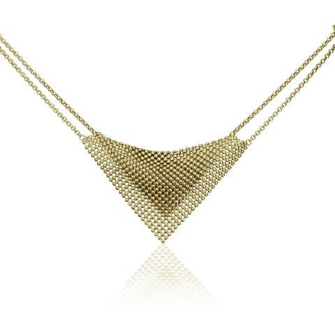Isla Simone - 18 Karat Gold Electro Plated Perline Bib Necklace