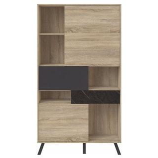 Nashville Wood Mid-century Modern Storage Bookcase
