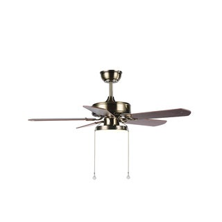 Round 42-inch Iron Blade 1-light Ceiling Fan