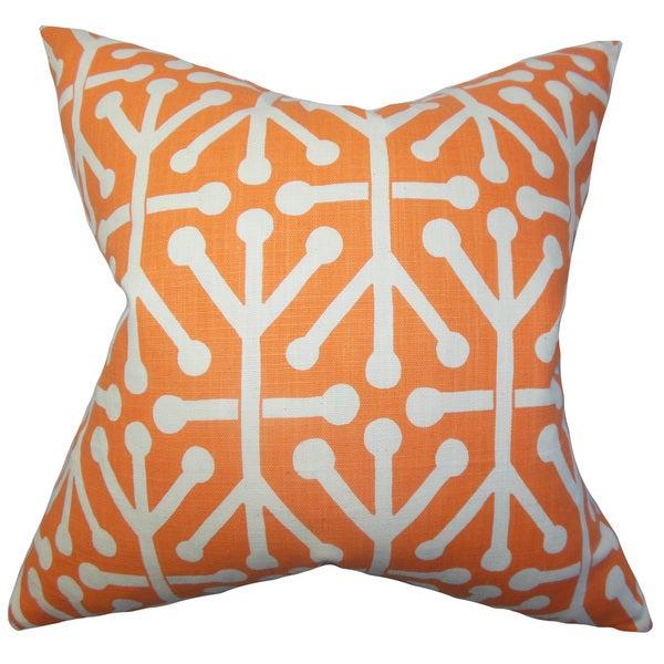 Heath Geometric Euro Sham Orange