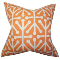 Heath Geometric Euro Sham Orange