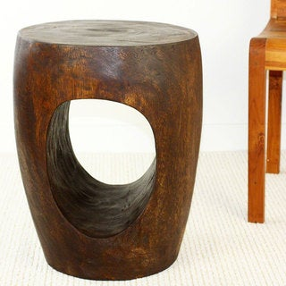 Big Eye 15 D x 20 in H (12 in Base) Dark Walnut Oil