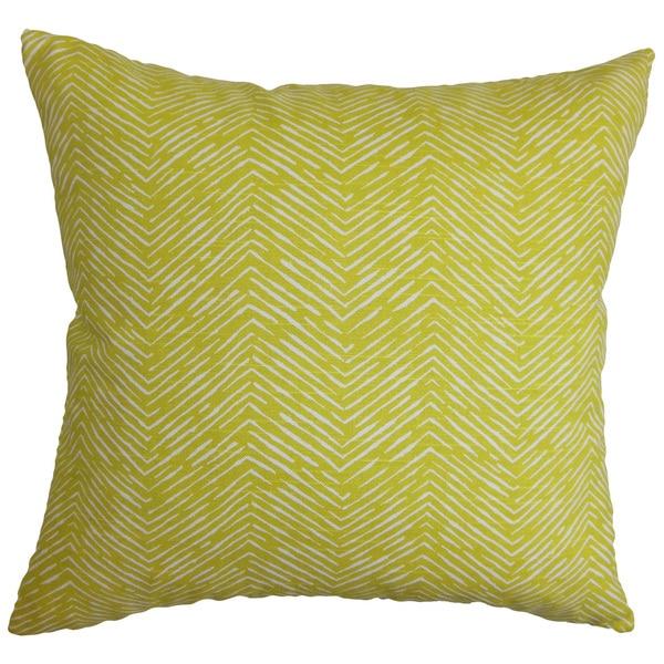 Edythe Zigzag Euro Sham Green