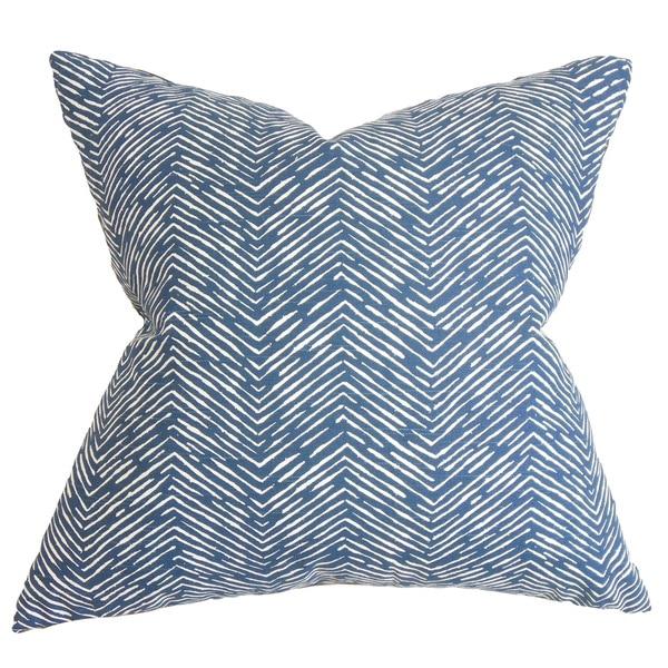 Edythe Zigzag Euro Sham Blue