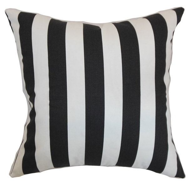 Ilaam Stripes Euro Sham Black Natural