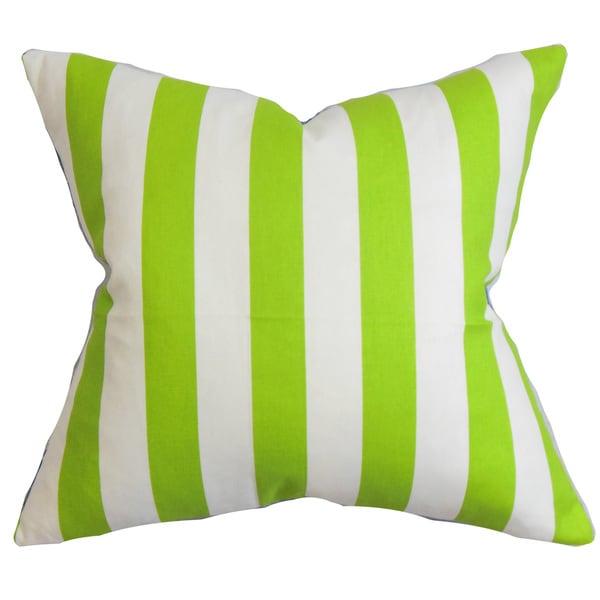 Ilaam Stripes Euro Sham Chartreuse White
