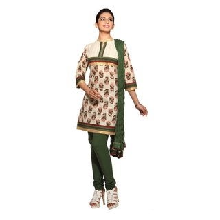 Women's Indian 3-Piece Ensemble With Empire-yoke and Print