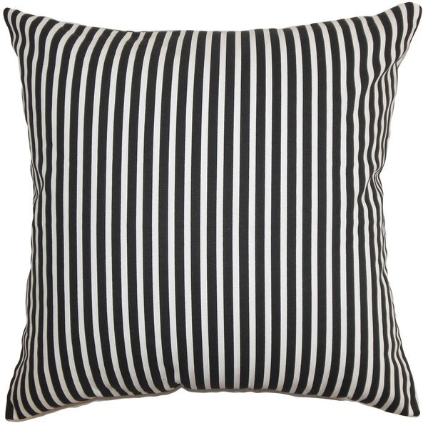 Elvy Stripes Euro Sham Black White