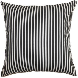 Elvy Stripes Euro Sham Black White