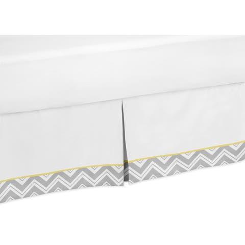 Sweet Jojo Designs Gray and Yellow Zig Zag Toddler Bedskirt