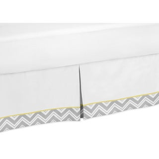 Sweet Jojo Designs Gray and Yellow Zig Zag Toddler Bedskirt