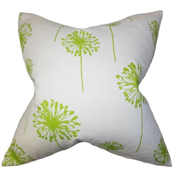 Dandelion Floral Euro Sham Green