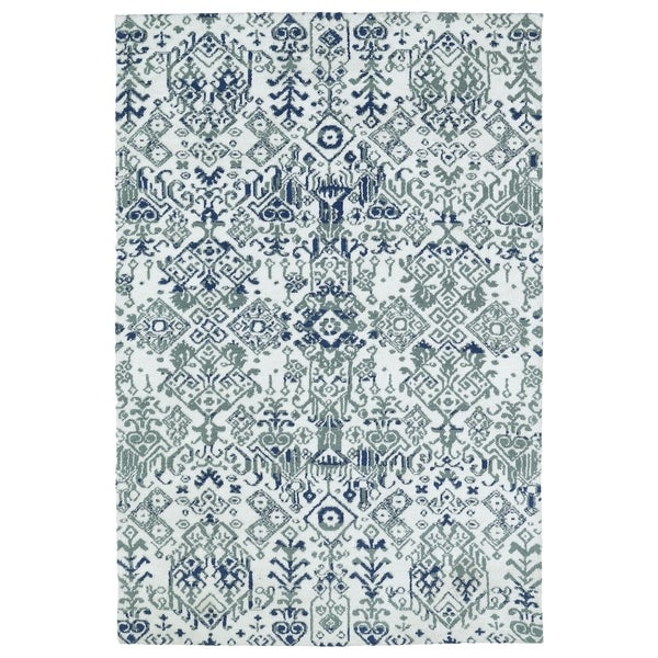 Shop Super Soft Ivory Ikat Microfiber Rug 8 X 10 On