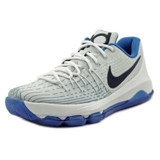Nike Men's 'KD 8' White/Blue Synthetic Athletic Shoes