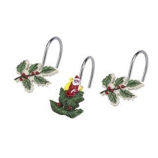 Spode Christmas Tree Holiday Themed Shower Curtain Hooks