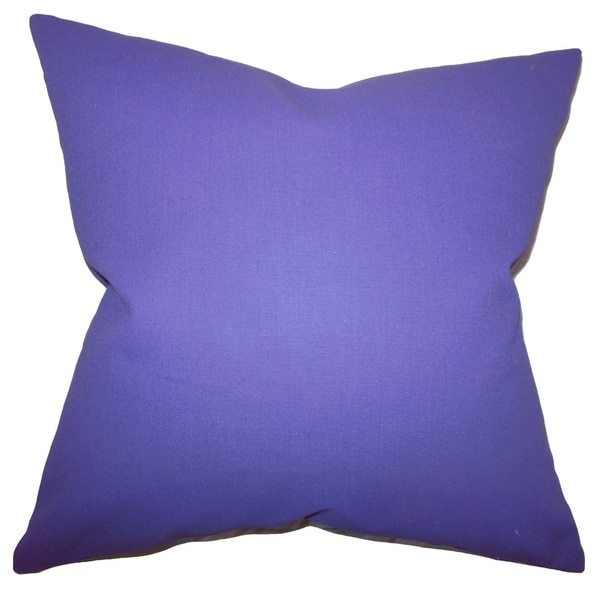 Kalindi Solid Euro Sham Purple