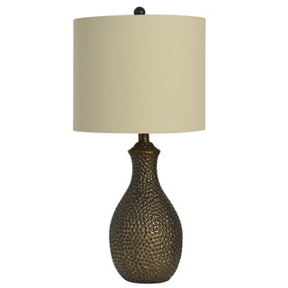 Decor Therapy Hammered Bronze Table Lamp