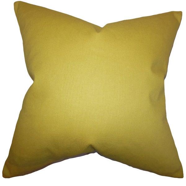 Kalindi Solid Euro Sham Yellow