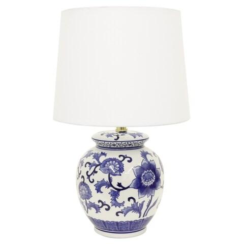 Maison Rouge Stephane Blue/ White Ceramic Table Lamp