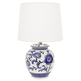 Maison Rouge Stephane Blue/White Ceramic Table Lamp