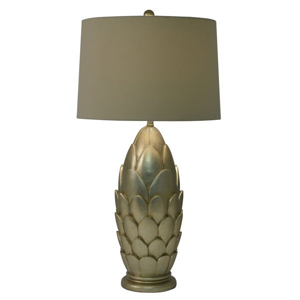 Decor Therapy Silverleaf Resin Table Lamp