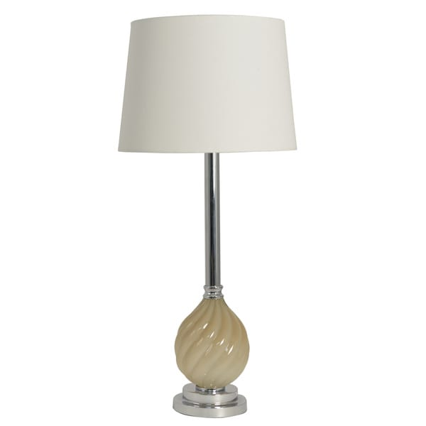 Decor Therapy Chrome Swirl Table Lamp