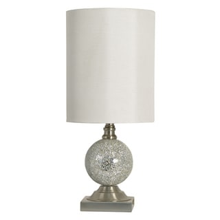 Silver Finish Mosaic Table Lamp