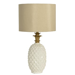 Decor Therapy Diamond-cut Pineapple Table Lamp