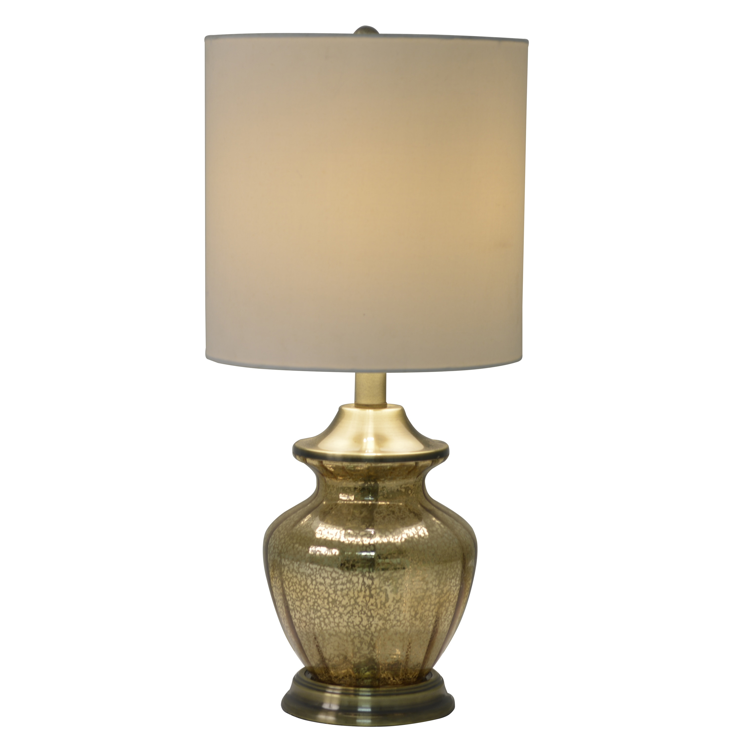 Shop Black Friday Deals On Decor Therapy Gold Tone Antique Brass Mercury Glass Table Lamp Overstock 12885178