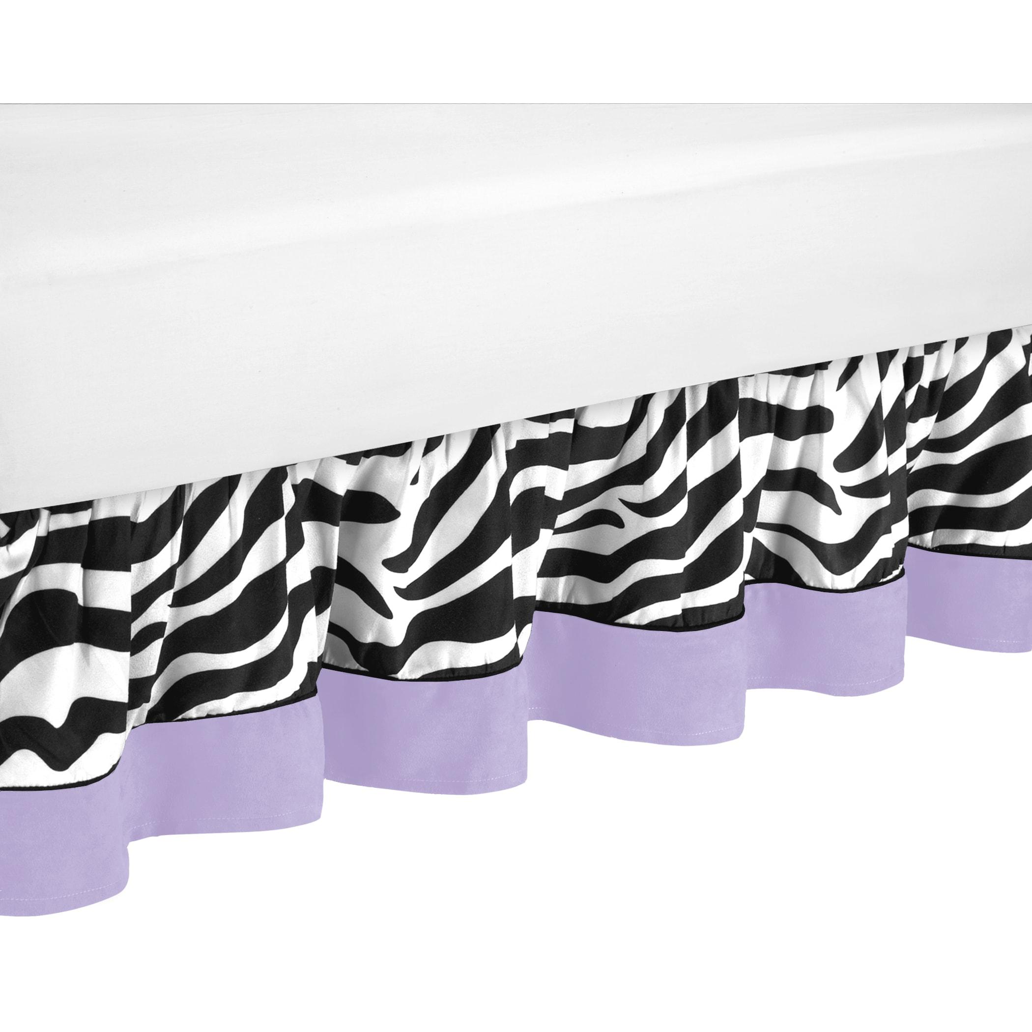JoJo Designs Purple Funky Zebra Toddler Bedskirt (Purple,...