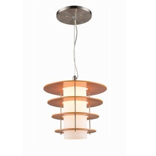 Woodbridge Lighting Layers Bronze/Nickel-finish Wood 1-light Pendant Light