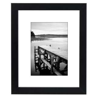Americanflat 8 x 10-inch Black Picture Frame for 5 x 7-inch Pictures with Mat or 8 x 10-inch Pictures Without Mat