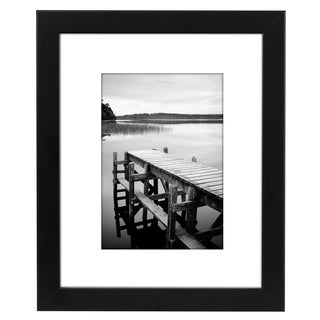 8 x 10-inch Black Picture Frame for 5 x 7-inch Pictures with Mat or 8 x 10-inch Pictures Without Mat