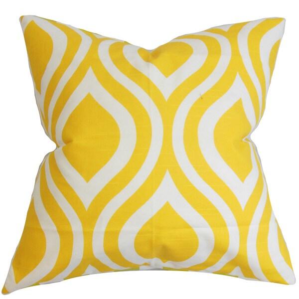 Larch Geometric Euro Sham Yellow
