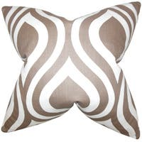 Larch Geometric Euro Sham Brown