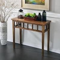 Karie Classic Walnut Finish Wood Console Table