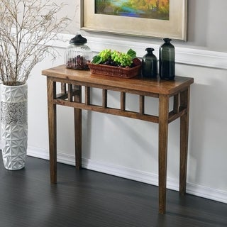 Karie Classic Walnut Finish Wood Console Table