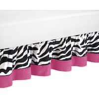 Sweet Jojo Designs Pink Funky Zebra Toddler Bedskirt