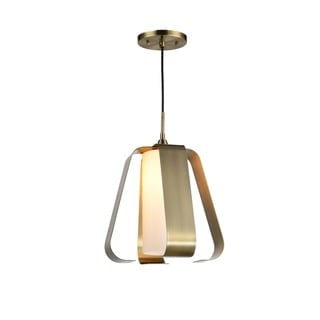 Woodbridge Lighting 14523 Bent Bronze/Black Metal 1-light Pendant